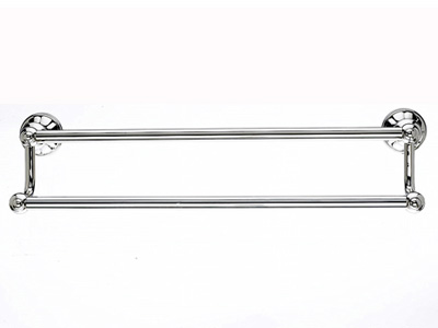"183HUD7PN Hudson double towel bar 18"" polished nickel.  Available in three sizes and four finishes."