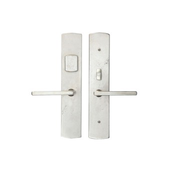 267CVMOR-12-450-WB Curved bronze mortise lever entry shown in white bronze.  Available in four finishes with multiple lever and knob options.