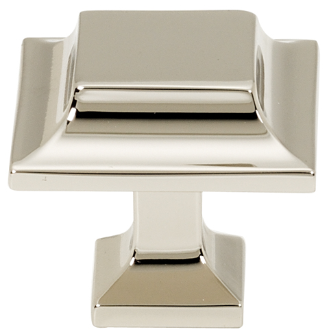 106A950-14-PN Millennium knob square 1-1/4in shown in polished nickel. Available in multiple sizes and four finishes.