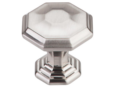 "183TK340BSN Chalet knob 1-1/4"" shown in satin nickel. Available in two sizes and four finishes."