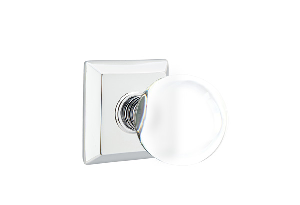 1298131-BL-US26 Bristol knob quincy rose, shown in polished chrome. Available in all functions and many other finishes.