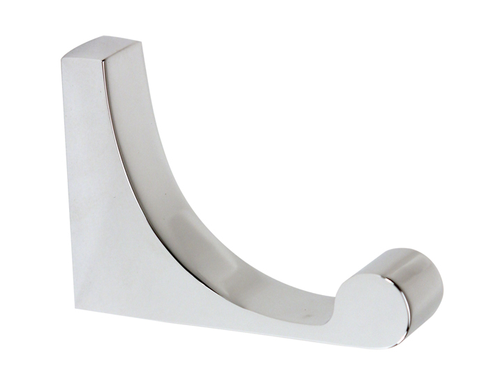 106A68880-PC Luna robe hook shown in polished chrome. Available in five finishes.