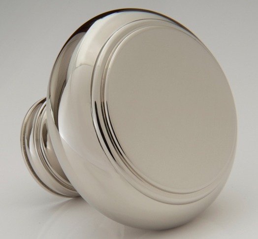 "2598411-PN Terrace knob 1-1/2"" shown in polished nickel. Available in additional sizes and  finishes ."