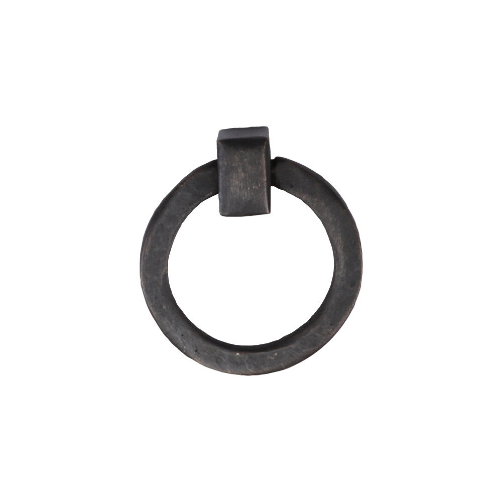 "2676361-BZ Flat round ring pull 1-5/8"" shown in dark bronze. Available in three finishes."