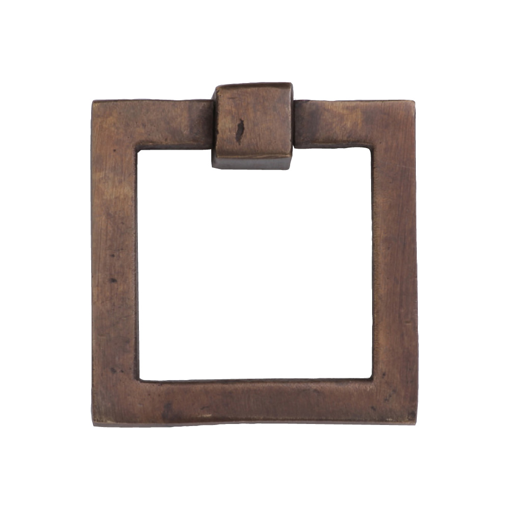 "2676356-LT Flat square ring pull 2-1/2"" shown in light bronze. Available in additional finishes."