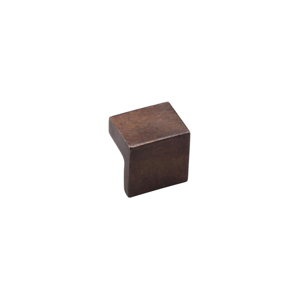 "2673894-LT 'L' knob 1"" square shown in light bronze. Available in three finishes."