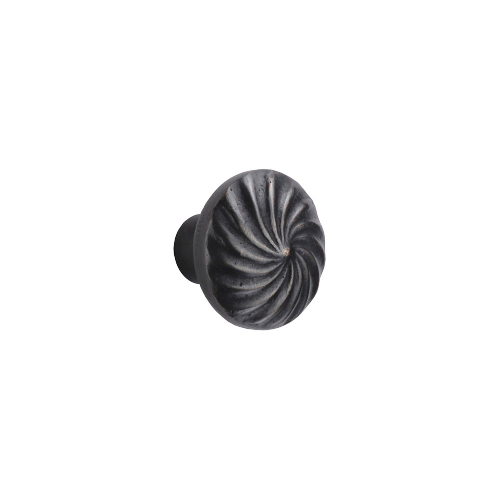 "2673891.1-1/4-BZ Wheel knob 1-1/4"" shown in dark bronze. Available in other sizes and finishes."