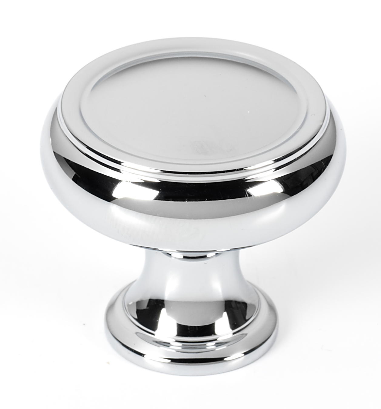 106A626-38-PC Charlie knob 1-1/2in diameter, shown in polished chrome, available in ten finishes.
