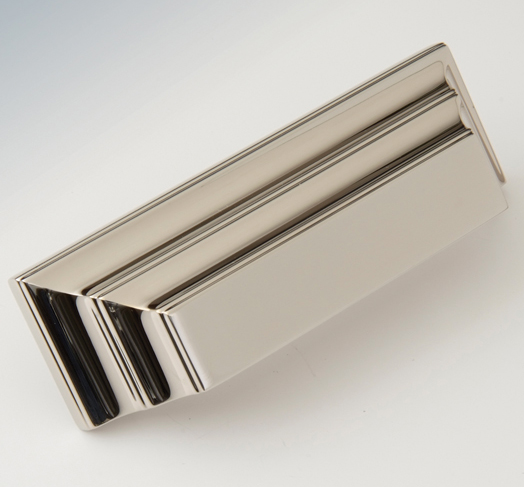 "2597378-PN Jamestown bin pull 3"" ctc shown in polished nickel. Available in several  finishes ."