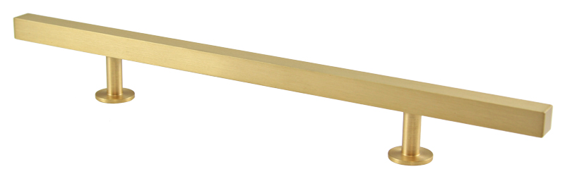 "23531-104 Bar pull handle 10-1/2"" overall 6"" ctc Brushed brass. Other sizes and  finishes  available."