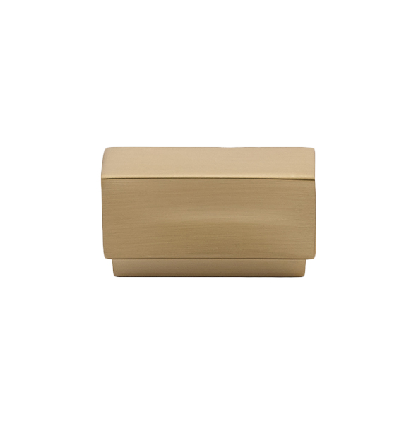 """12986446US4 Cinder knob 1-5/8"""" shown in satin brass. Available in an additional size and five finishes."""