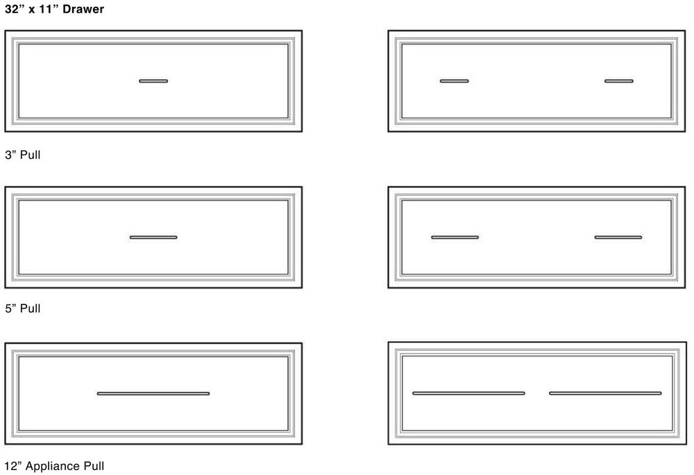 Cabinet Hardware Sizing Guide The, Long Cabinet Pulls