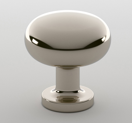 "2598621-PN Madison knob 1-1/4"" polished nickel. Available in additional sizes and  finishes ."