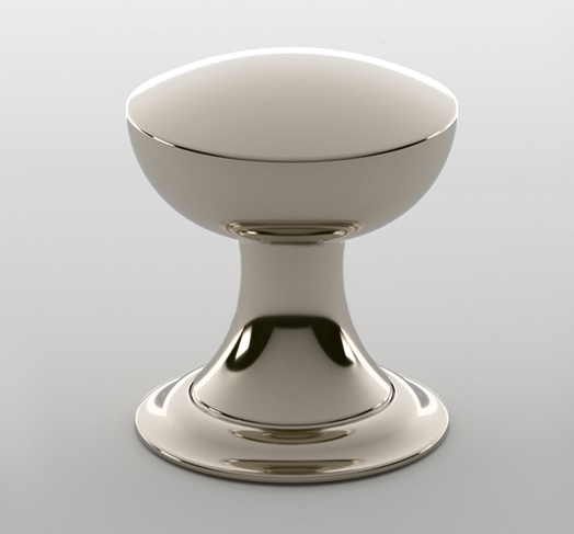 "2598633-4408-PN Lexington knob with plate 1-1/4"" knob polished nickel. Available in additional  finishes ."