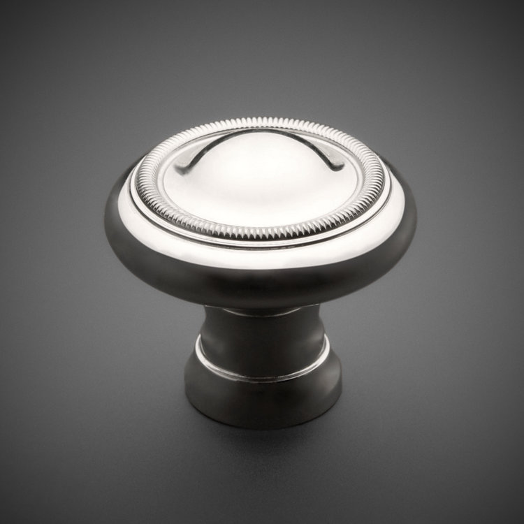 "245CK034K-PN Classic knurled ridge knob 1-1/4"" polished nickel. Additional sizes and finishes available."