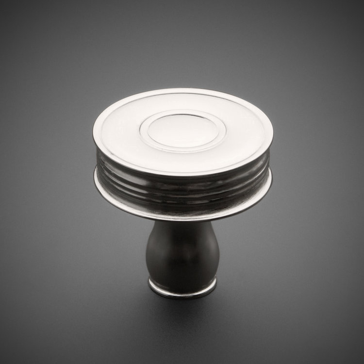 "245CK036-PN Traditional Whitewall knob 1-1/4"" polished nickel. Additional sizes and finished available."
