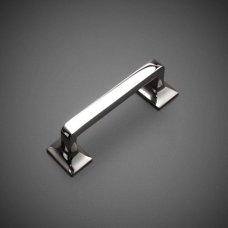 "245DP040-4-PN Square foot handle 4"" ctc polished nickel. Additional sizes and finishes available."