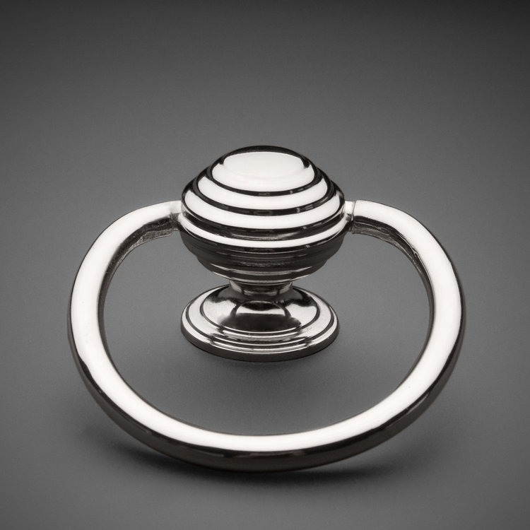 245RP074-PN Banded ring pull polished nickel. Additional finishes available.