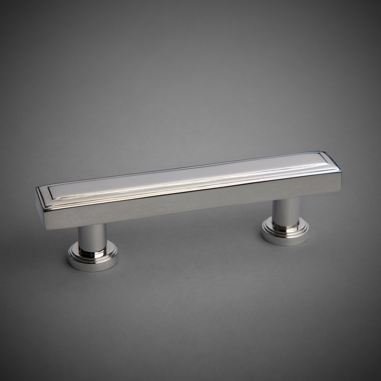 "245DP200-PN Tiered handle 4"" ctc polished nickel. Additional finishes available."