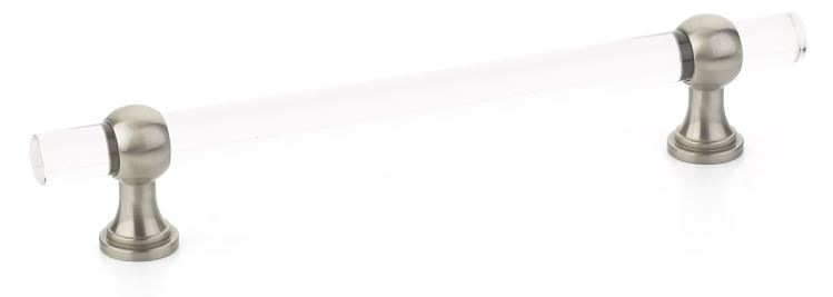 """195416-15 Lumiere Transitional, Adjustable Pull, Acrylic, Satin Nickel, 6"""" cc  other finishes available"""