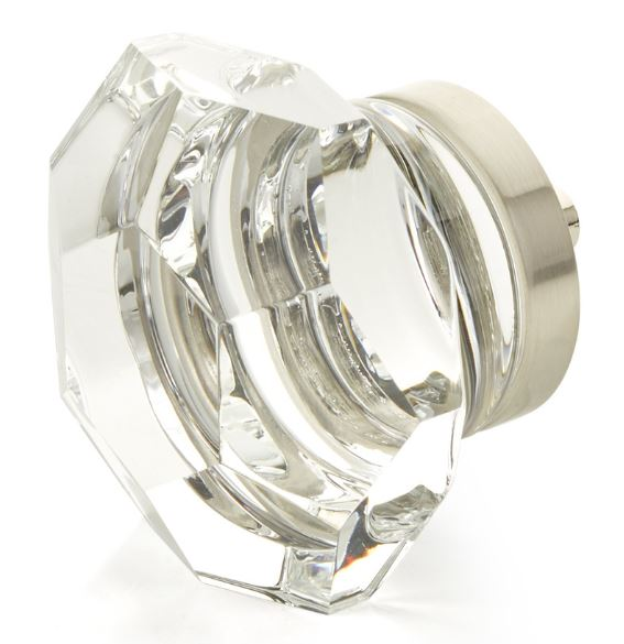 """19554-15 City Lights, Faceted Dome Glass Knob, Satin Nickel, 1-3/4"""" dia  other finishes available"""