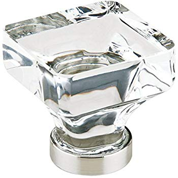 """12986403US15 Lido crystal 1-3/8"""" satin nickel base. Additional size and finishes available."""