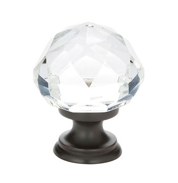 """12986012US10B Diamond crystal  1-1/4"""" oil rubbed bronze base. Additional sizes and finishes available."""