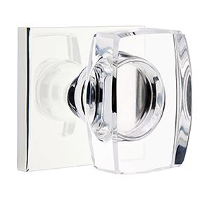 1295110-WS-US26 Windsor crystal knob square modern rose. Shown in polished chrome, many finishes available.