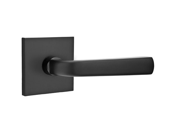 1295110.SIO.US19 Sion lever square modern rose. Shown in flat black, many other finishes available.