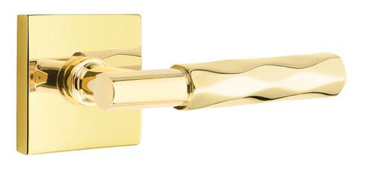 1295110.TS.TR.US3NL Tribeca lever  square modern rose. Shown in Unlacquered brass, many finishes  available.