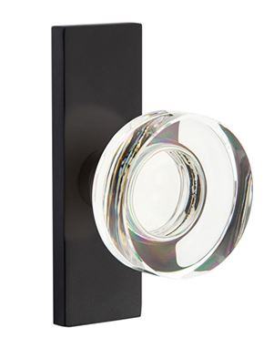 1295507.MDC.US19 Modern Disc crystal narrow Stretto plate. Shown in flat black, many finishes available.