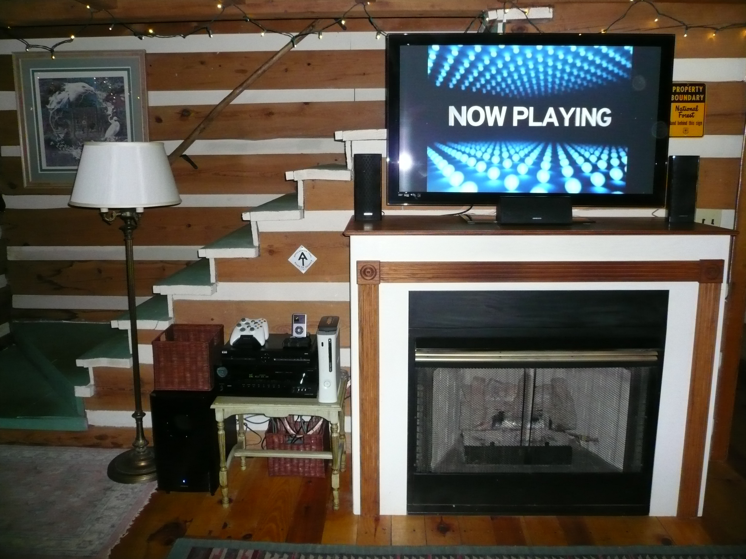 """A 50"""" plasma TV with 7.1 surround sound makes rainy days a little easier to bear..."""