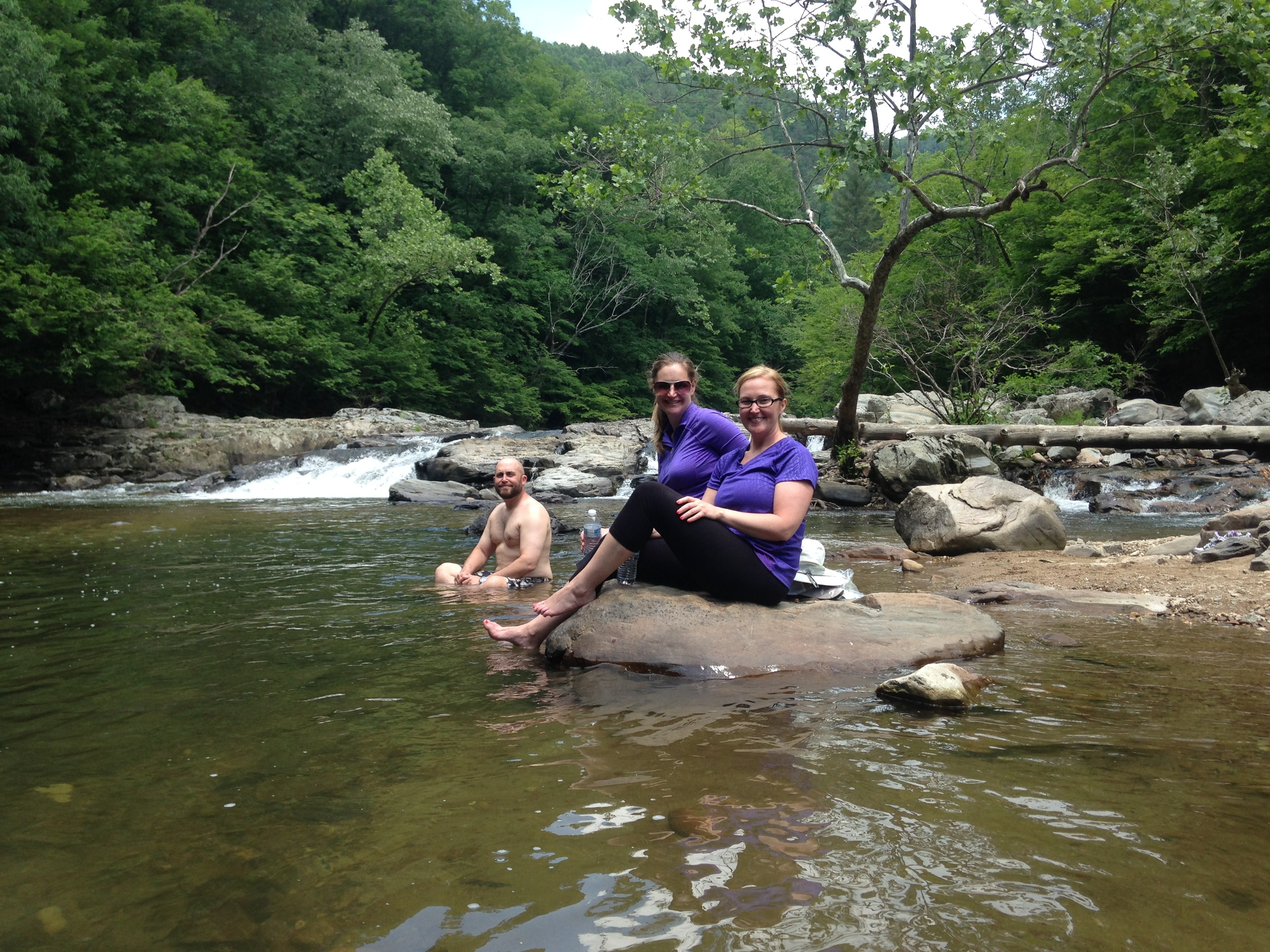Our swimming hole on the Laurel River Trail