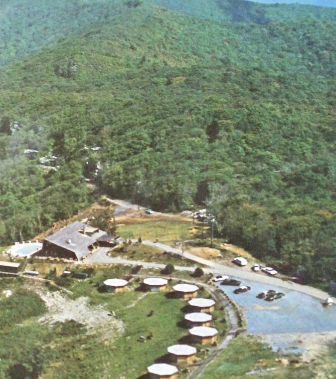 Aerial view of the Valhalla Inn at Viking Mountain; circa 1970's