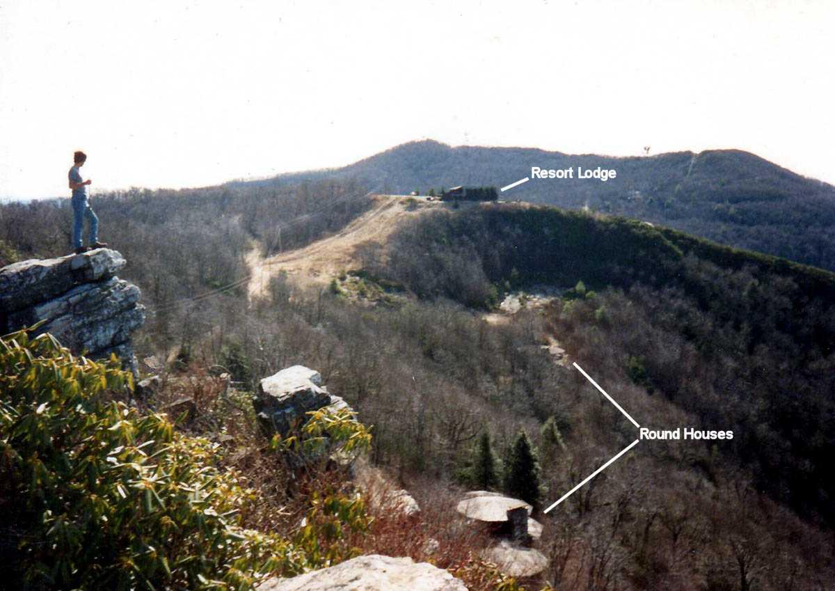 View of Valhalla Inn from Blackstack Cliffs