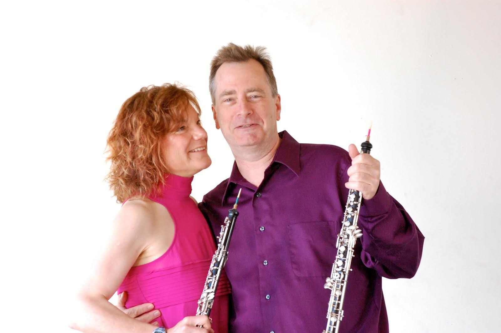 Tom Nugent (oboe) with fellow Left Coast musician and wife, Andrea Plesnarski