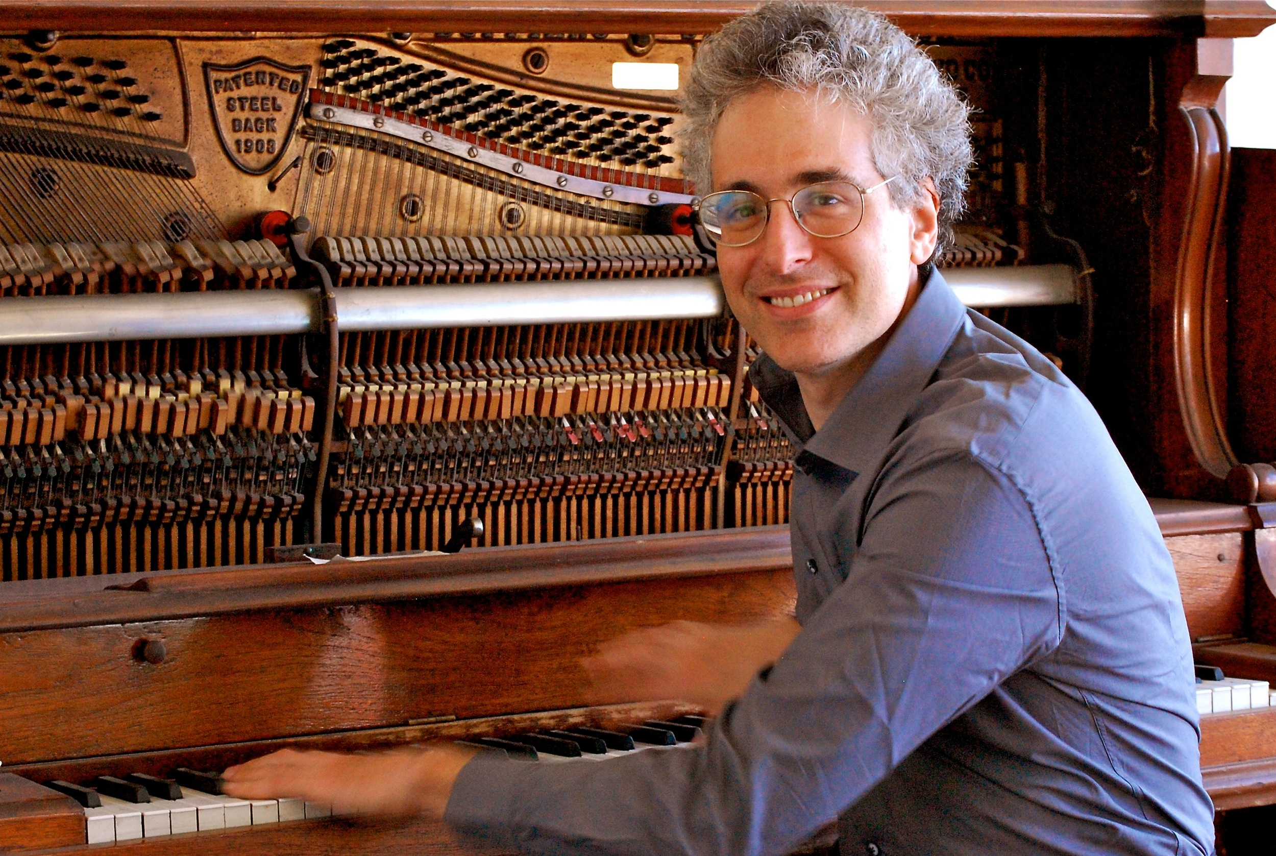 Eric Zivian, Left Coast musician at the piano