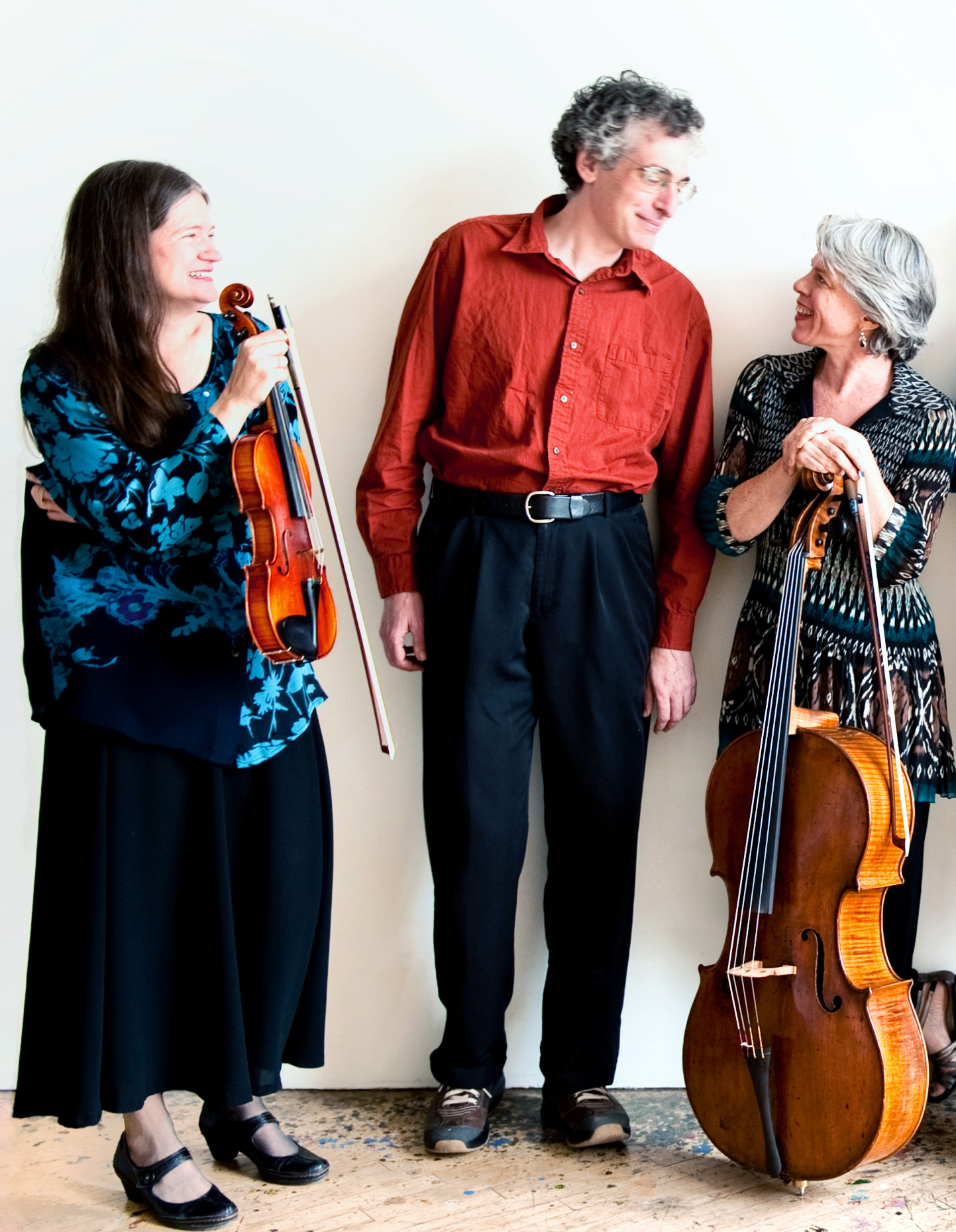 Anna Presler (violin), Eric Zivian (piano), Tanya Tomkins (cello) by Lydia Chen