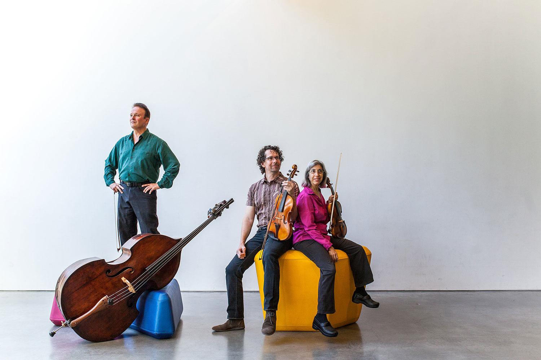 left to right: Michel Taddei, Kurt Rohde, Phyllis Kamrin