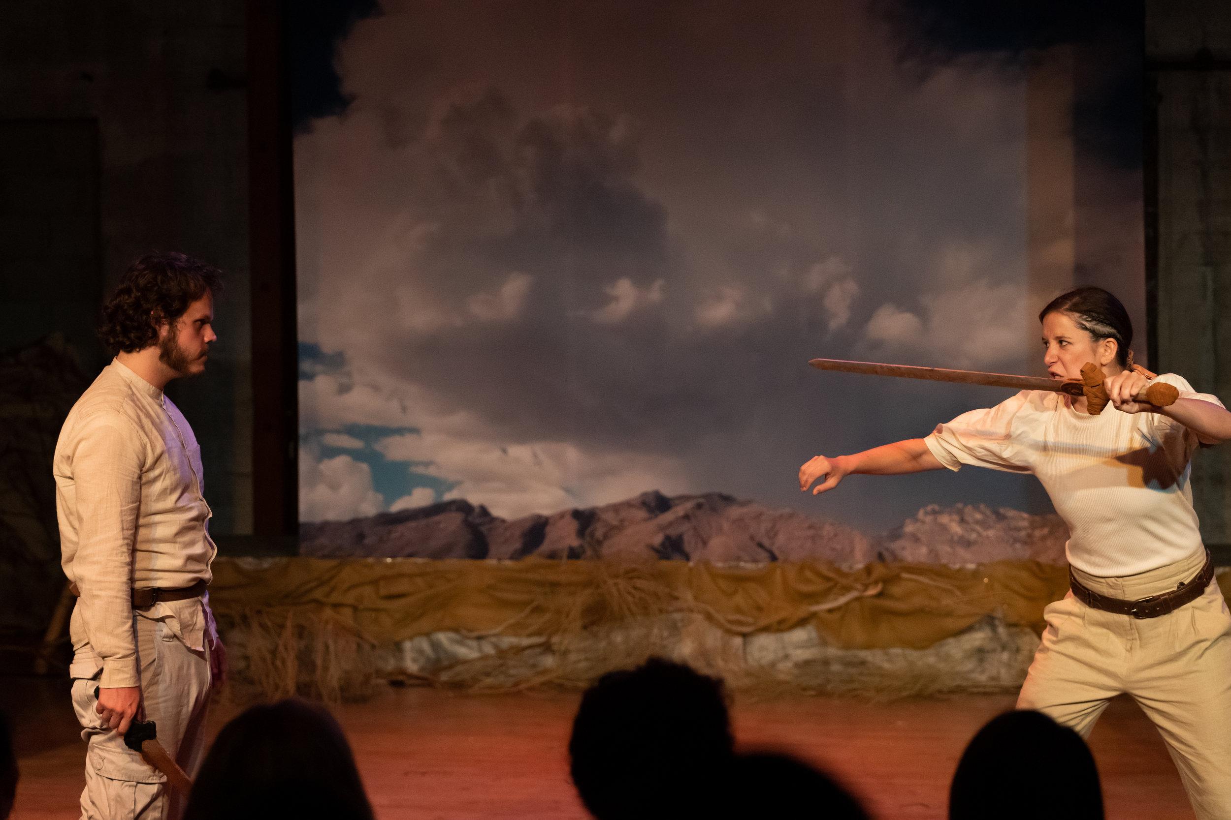 Macduff in Macbeth at Los Angeles Art Share 2019