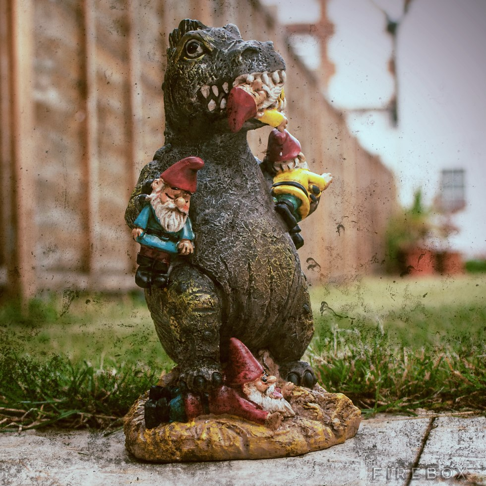 Gnome Massacre Yard Ornament