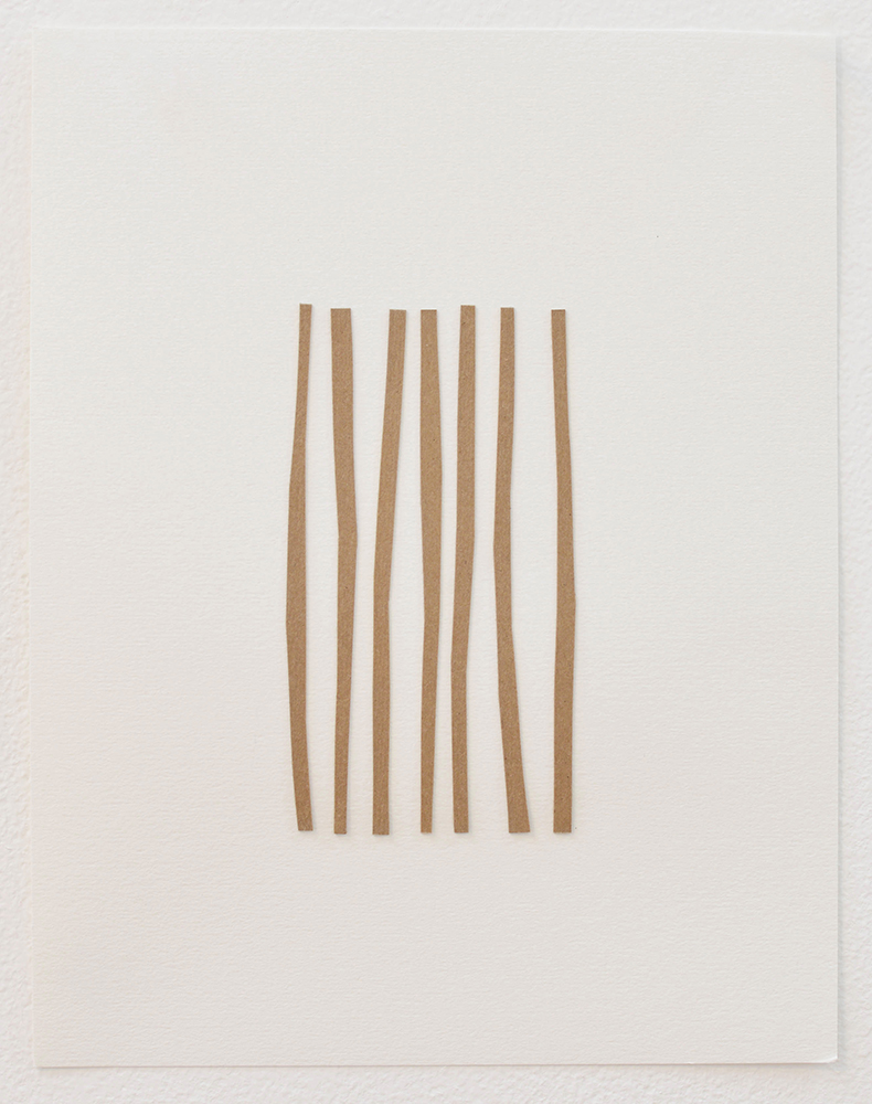 American Flag, 2015 Cardboard on paper  11 x 8.5 inches