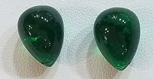 Tumbled Emeralds - quite clear, robust green