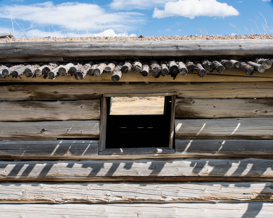 Cunningham Cabin, detail.