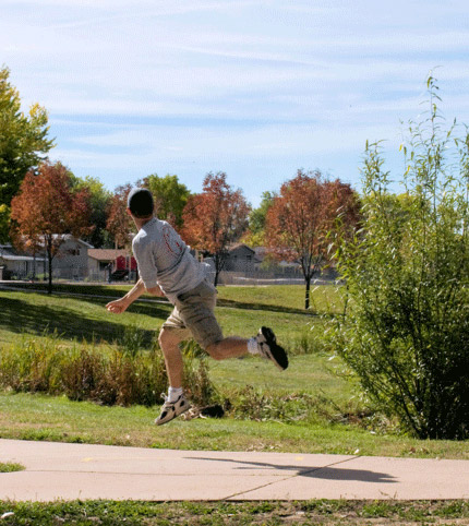 Disc golfing in Colorado