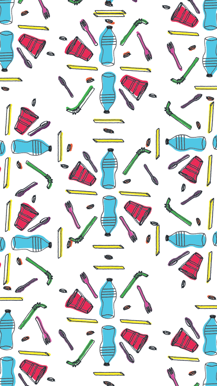 An iPhone background to you, from me: may we remember not to use plastic straws!