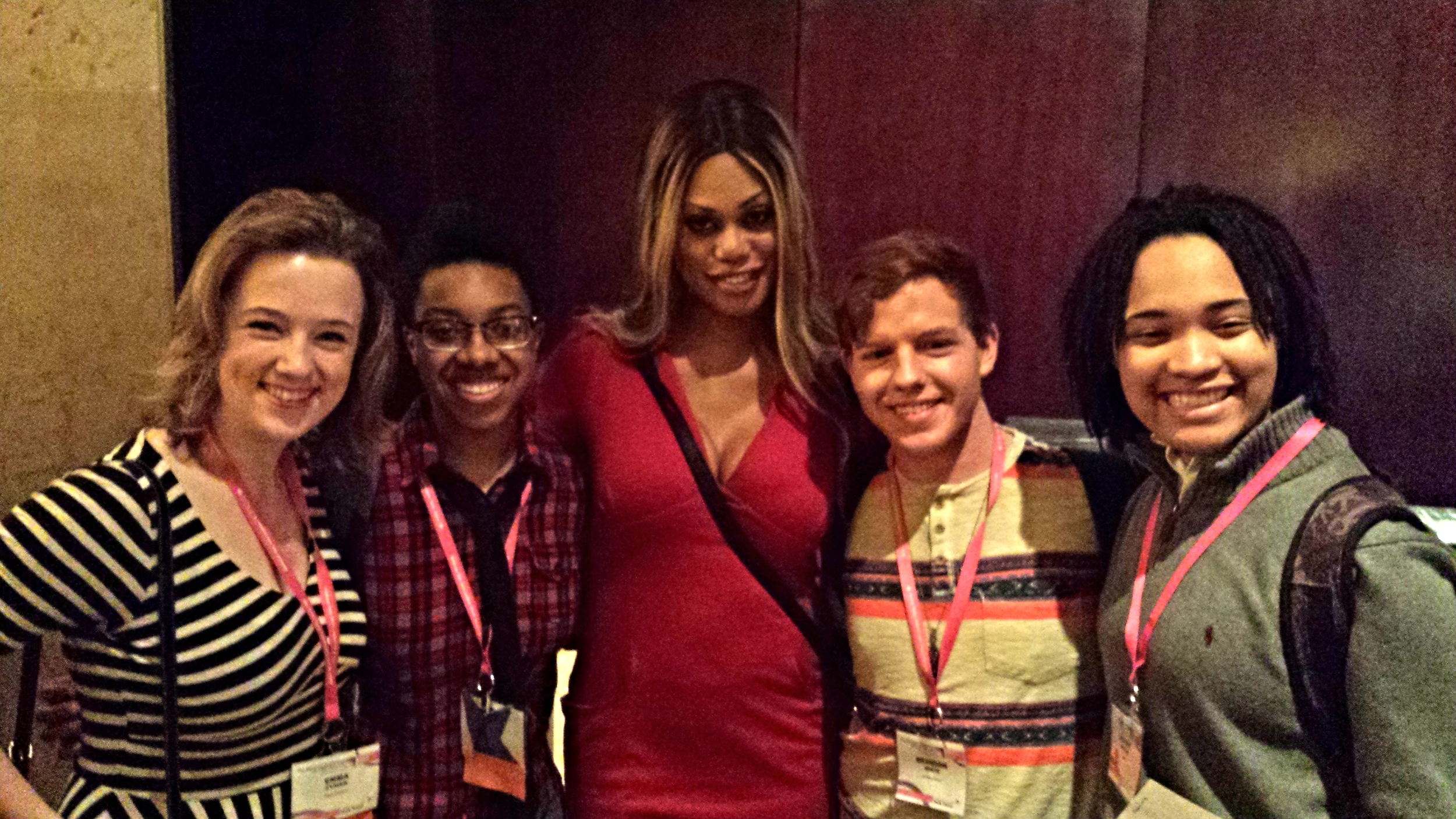 Seeing old friends. Making new friends. Being in the presence of Laverne Cox.  Education at Creating Change 2014.