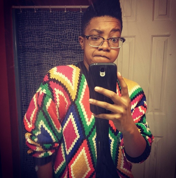 Look at that Bill Cosby sweater y'all.