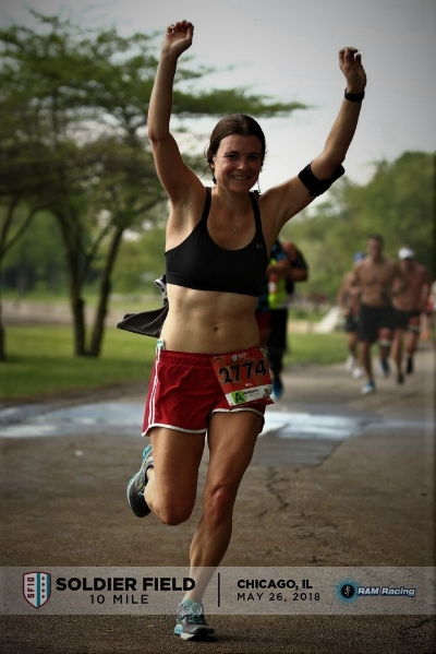 They got lots of pictures of me during this race. I was unattractive in all of them. I had stomach cramps the night before and that day (and right now, I need to figure my stomach out) and I had been throwing water on my head. But this picture is presentable.