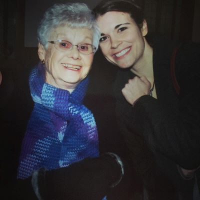 Me and grandma several years ago. I had knitted her that scarf for Christmas I think.